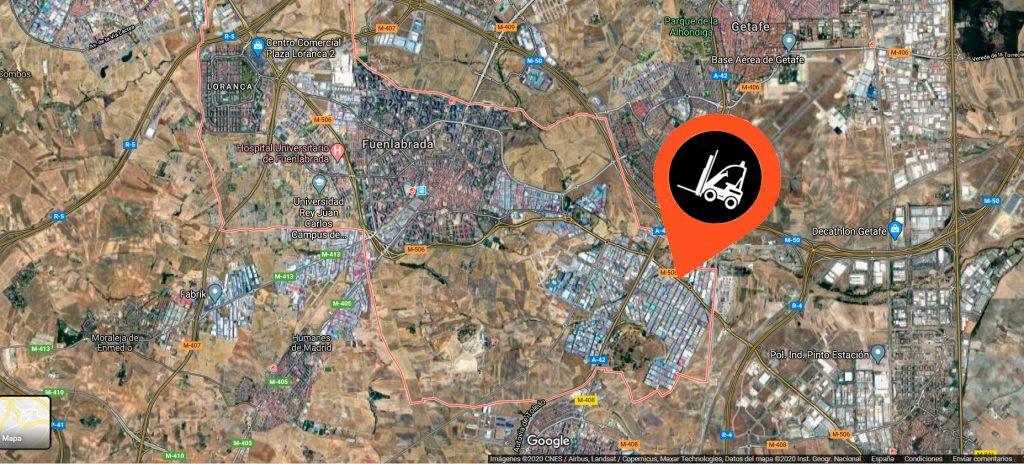Imagen aerea de Fuenlabrada