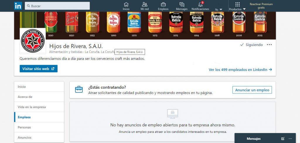 Linkedin Hijos de Rivera